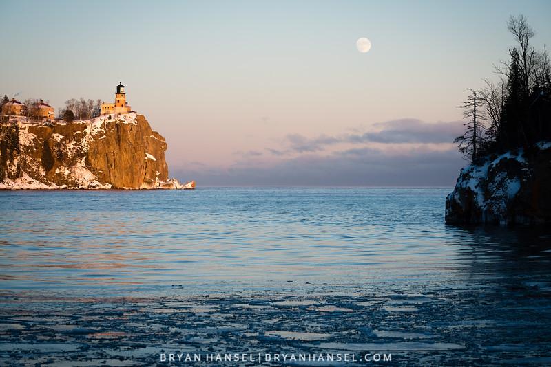 Split Rock Lighthouse Moonrise II