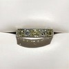 2.30ctw Fancy Yellow and White French Cut Diamond 5-Stone Band 8