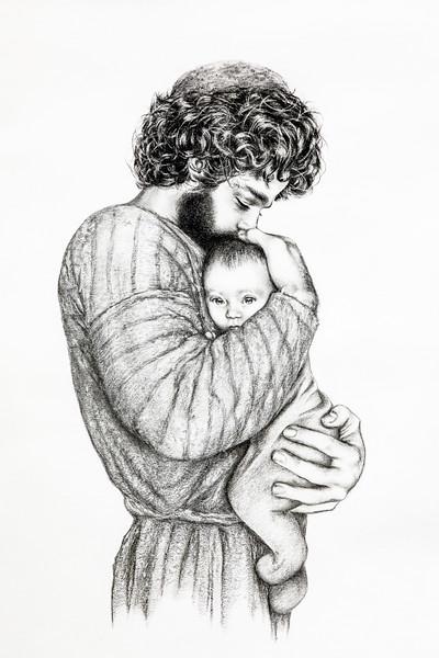 Saint Joseph and the Child Jesus - Sr. Mary Alexandra.jpg