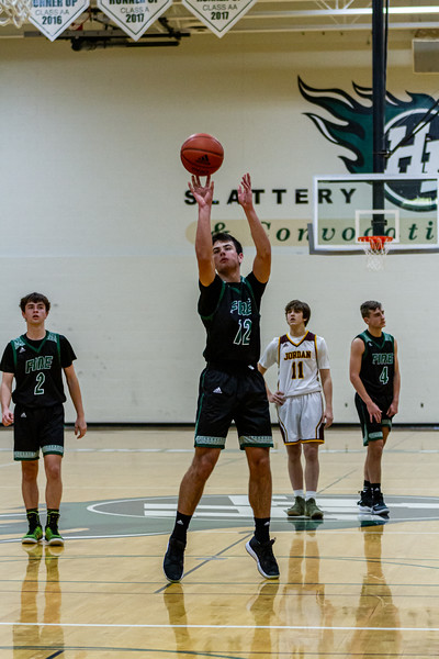 Holy Family Varsity Boys Basketball vs. Jordan, 1/23/20: Jake Kirsch '21 (12)