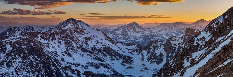 Mount Bierstadt Sunset Panorama 3x1