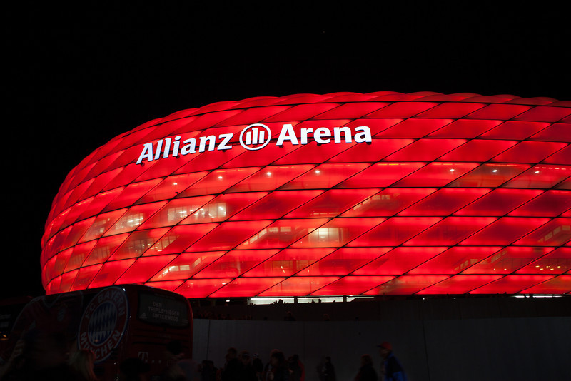 Allianz Arena 9nov2013 with the Edelsfeld fan club