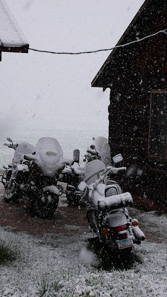 Ah, the romance of motorbike touring.