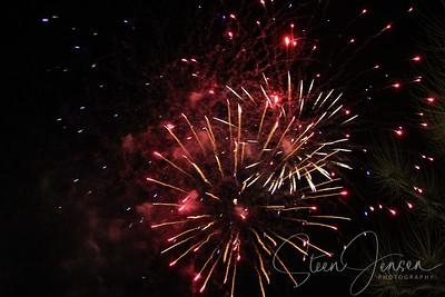 Night Photo; Fireworks; Fyrværkeri
