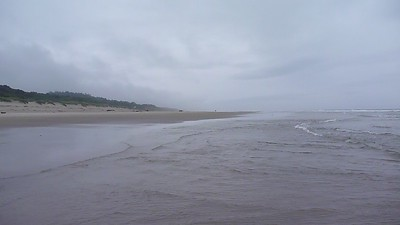 Waldport - June 30th - Long Walk on an Empty Beach in the Drizzle