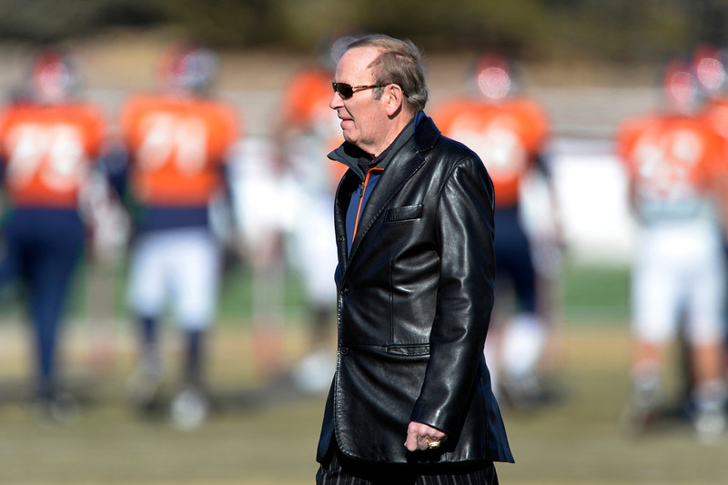 . Denver Broncos owner Pat Bowlen attends practice January 8, 2014 at Dove Valley. The Denver Broncos are preparing for their Divisional Game against the San Diego Chargers at Sports Authority Field. (Photo by John Leyba/The Denver Post)