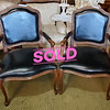 Provincial  Leather Accent Chairs