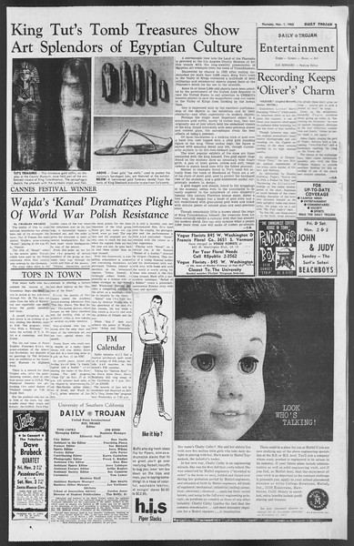 Daily Trojan, Vol. 54, No. 28, November 01, 1962