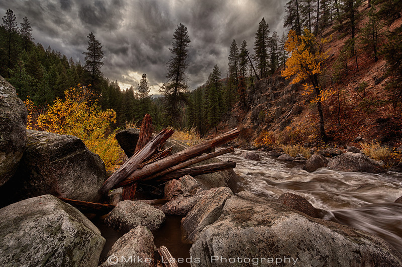 Middle Fork Payette River in Idaho on a fall afternoon.