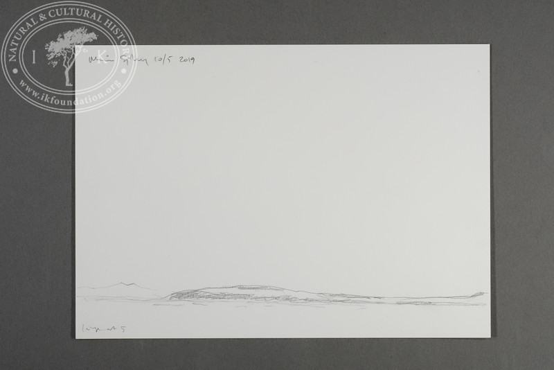 "Prins Karls Forland drawn from the zodiac positioned just north of Nordøya | 10.5.2019 |  ""I want to convey what I see with immediacy and simplicity to make the viewer feel present on the Arctic scene."" 
