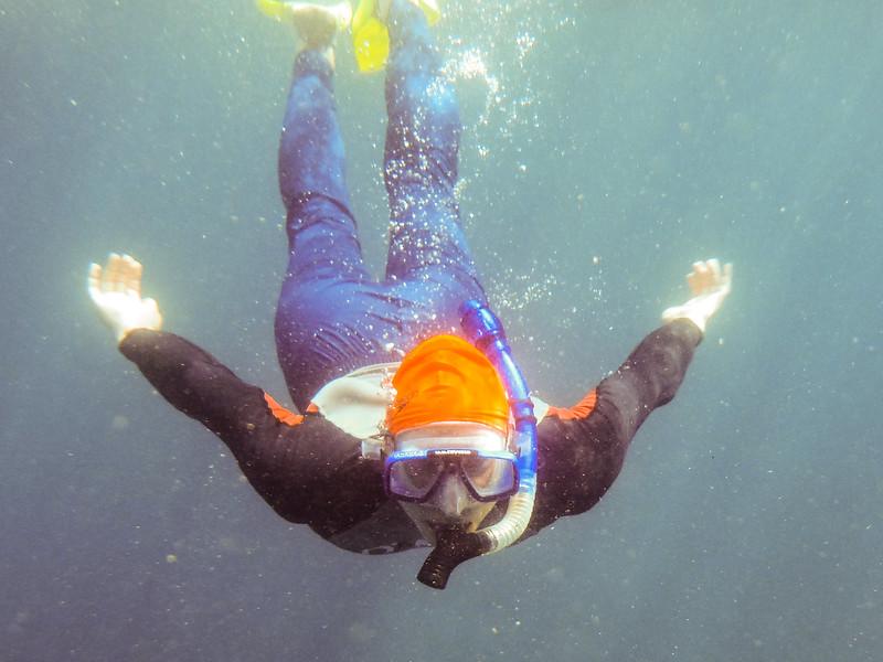 Joel snorkeling