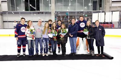 Beckman Hockey Senior Night 02.23.19