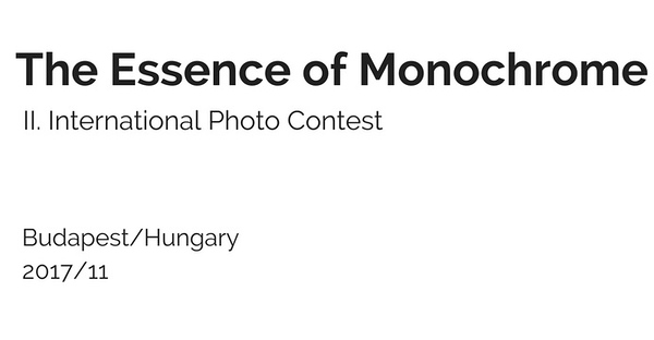 13.11.2017 -The Essence of Monochrome – International Photo Contest