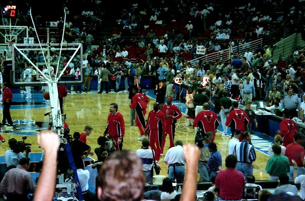 Chicago Bulls at Orlando Magic Easter Sunday Game in 1996