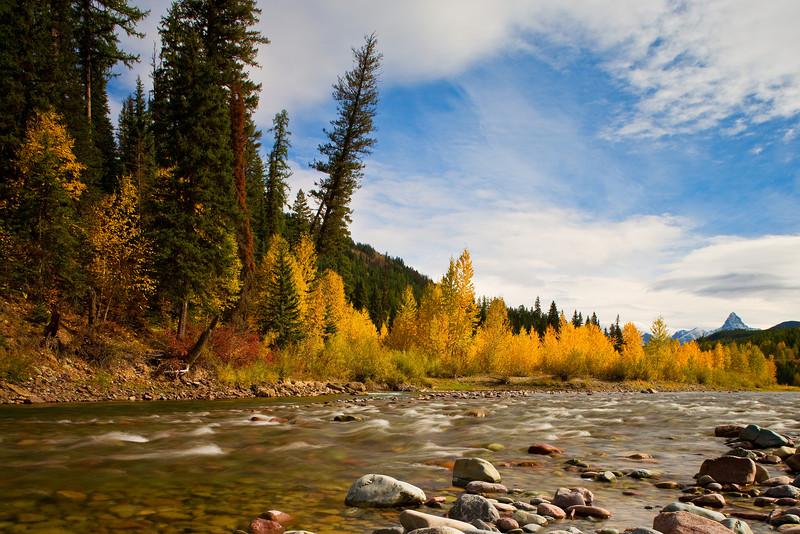 Autumn Colors. stream outside Glacier National Park