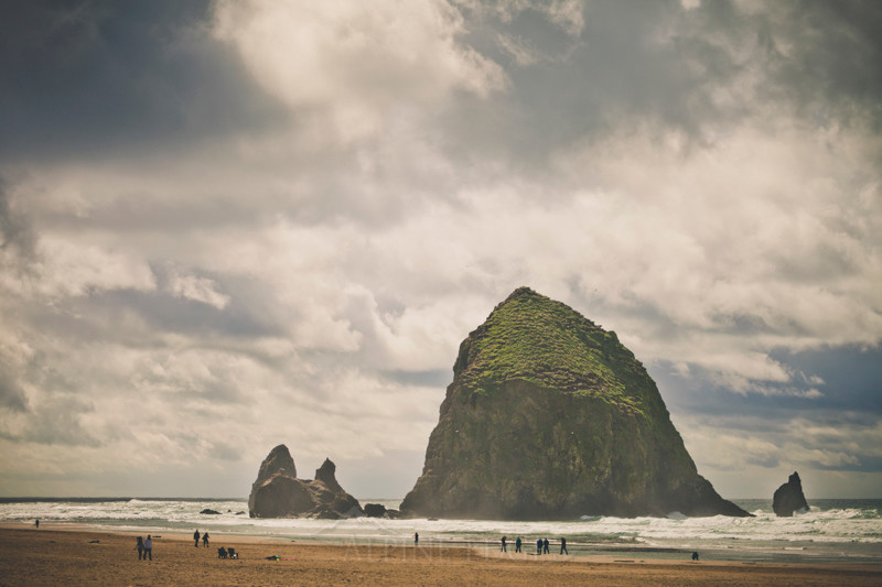 Haystack Rock, Cannon Beach, Oregon.