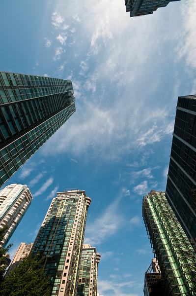 Buildings, meet sky. Sky, meet buildings.