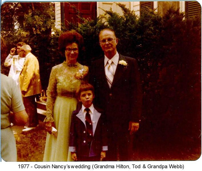1977-GrandmaHiltonGrandpaWebb&Tod-CousinNancysWedding.jpg