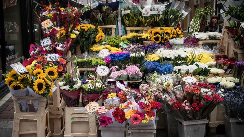 Flowers on Grafton Street, Dublin, Ireland