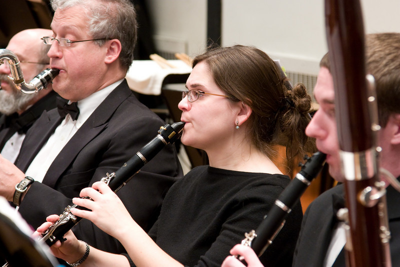 Laura Hanyok, clarinet (with Larry Brown, bass clarinet) -- , Hopkins Symphony Orchestra, March 2008