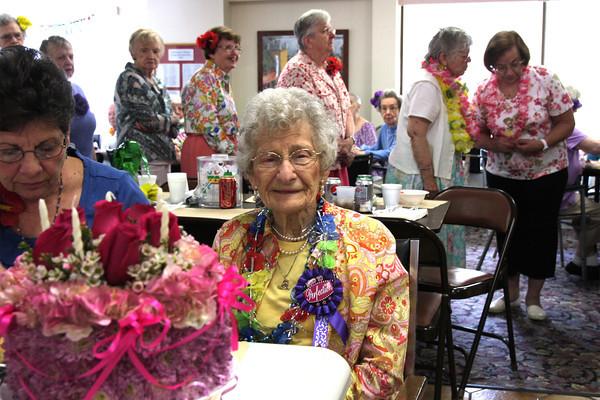 Olga Thomas turns 100