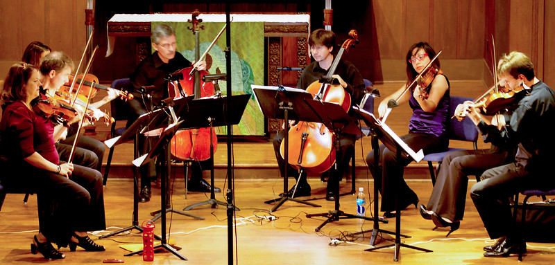 The full Octet (playing either Shastakovich or Mendelssohn.)