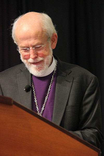 Presiding Bishop Mark S. Hanson receives the Servus Dei Medal. This medal honors officers of the Evangelical Lutheran Church in America at the completion of their terms and continues a tradition that was begun in our predecessor church bodies.