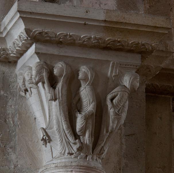 Vezelay Sainte-Madeleine Abbey Judith and Holofernes