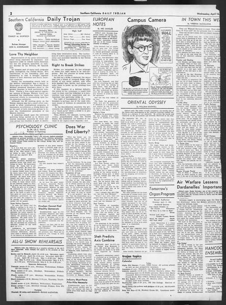 Daily Trojan, Vol. 32, No. 122, April 16, 1941