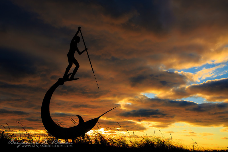 Spearfishing at Sunset