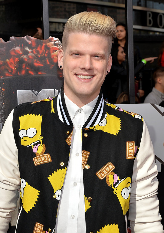 . Singer Scott Hoying attends the 2014 MTV Movie Awards at Nokia Theatre L.A. Live on April 13, 2014 in Los Angeles, California.  (Photo by Michael Buckner/Getty Images)
