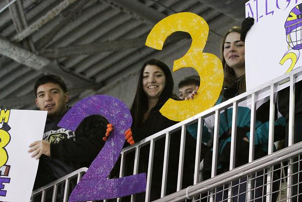 Hockey honors Mike Nichols at Woodbridge Game, Jan 7th, 2014 at Woodbridge Rec Ctr.