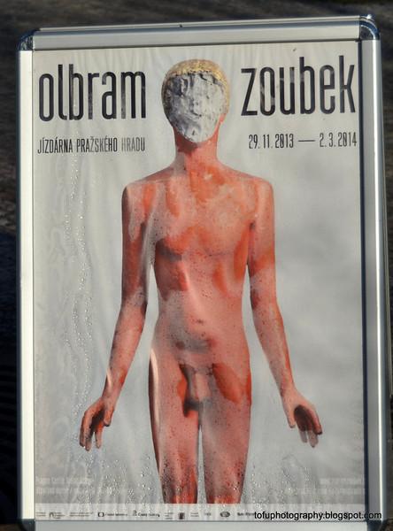 Poster for an Olbram Zoubek exhibition in Prague, Czech Republic in February 2014