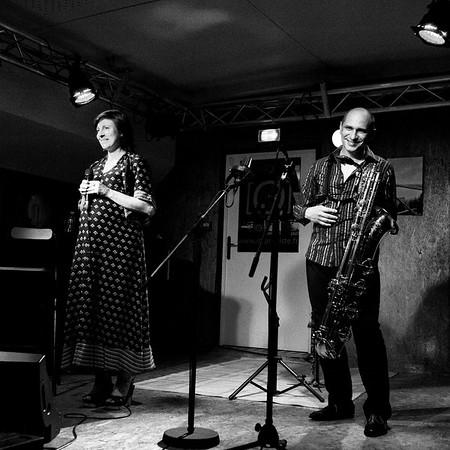 Claudia Solal et Jean-Charles Richard à la péniche l'Improviste le 31 aout 2012