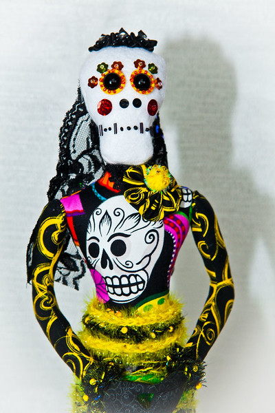Day of the Dead Art Doll Figure