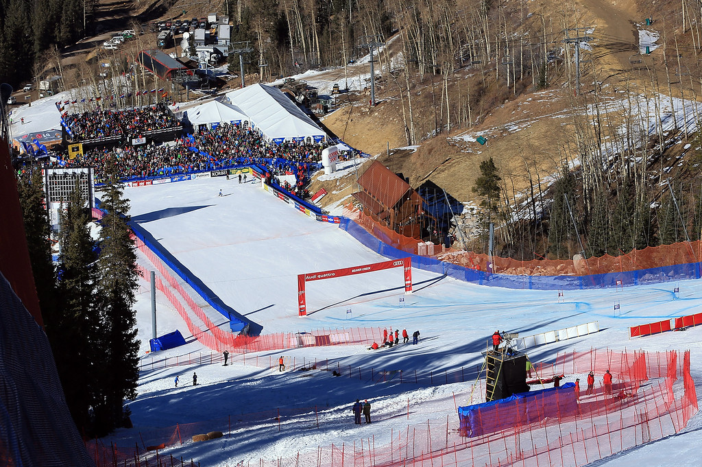 . A general view of the finish area during the men\'s Super G on the Birds of Prey at the Audi FIS World Cup on December 1, 2012 in Beaver Creek, Colorado.  (Photo by Doug Pensinger/Getty Images)