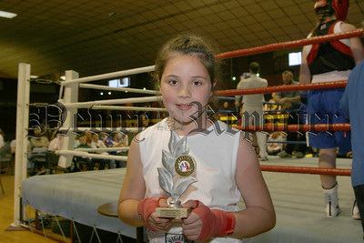 Laura Mc Garry (hilltown) who boxed an exhibition bout, 06W27S17