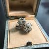 5.15ctw Old European Cut Diamond Toi et Moi Ring 9