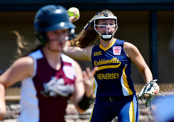7/24/2019 Mike Orazzi | Staff New Jersey's Sorella Gallucci (4) during Wednesday's Little League Softball game with Rhode Island in Bristol.