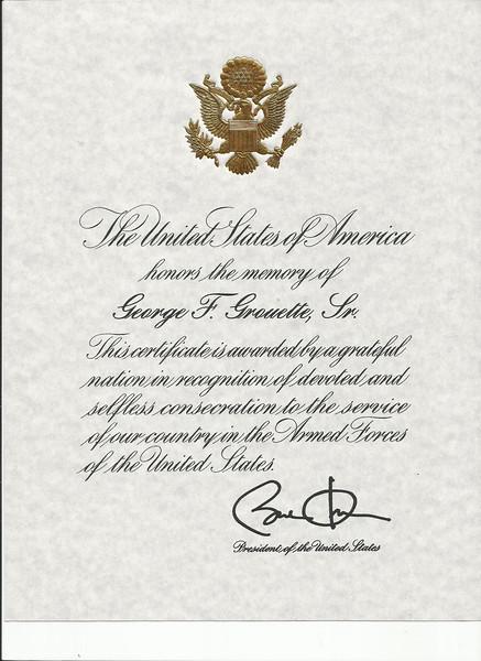 George's Presidential Memorial Certificate.jpg