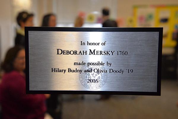 Deb Mersky 1760 Classroom Dedication