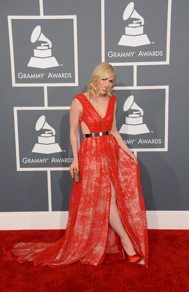 . Singer Natasha Bedingfield arrives at the 55th Annual GRAMMY Awards at Staples Center on February 10, 2013 in Los Angeles, California.  (Photo by Jason Merritt/Getty Images)