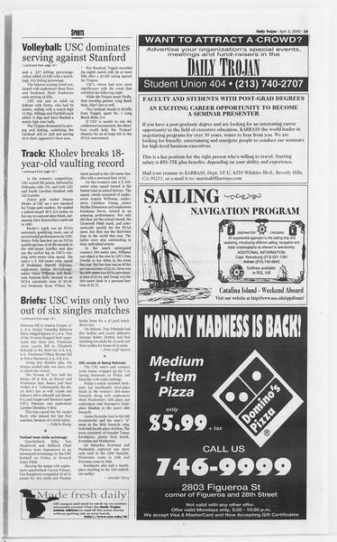 Daily Trojan, Vol. 139, No. 49, April 03, 2000