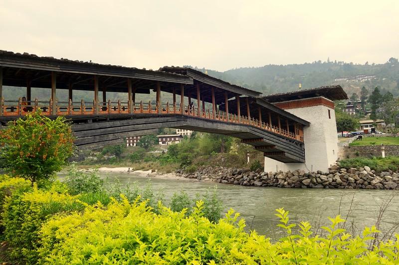 bridge to Punakha Dzong