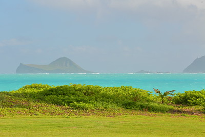 Shore with Rabbit Island and Makapu'u Point in distance.  © 2020 Kenneth R. Sheide