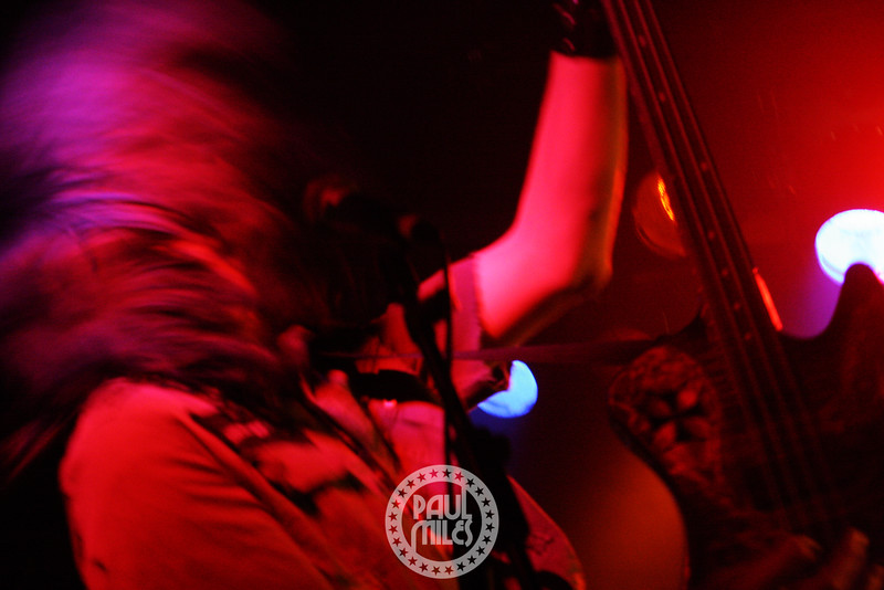 Soil bassist Tim King rocking the stage of the Corner Hotel in Melbourne on the band's Dec 2009 Australian Tour.