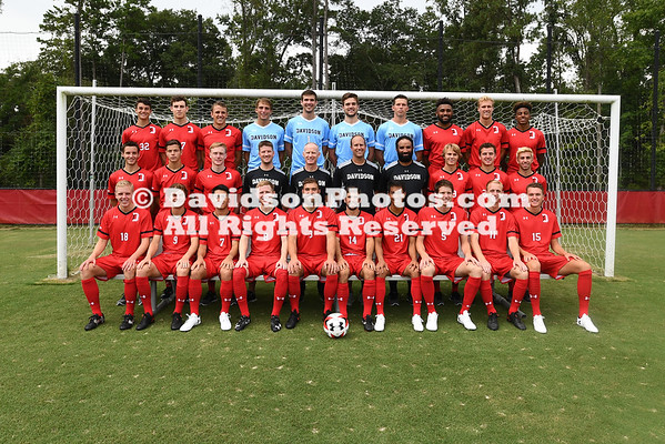2017 Davidson Men's Soccer Team Photos