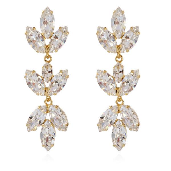 Tekla Earrings / Crystal Gold