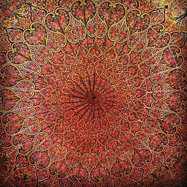 Pink Mosque ceiling. Mesmerizing Persian design. Shiraz, #Iran. #wir #gadv #dna2iran