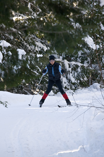 Hillsborough Ski avec Guy, Caroline et Joshua 7 dec